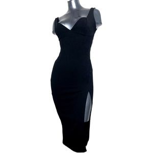 NWT Nasty Gal Little Black Dress Split Side Body